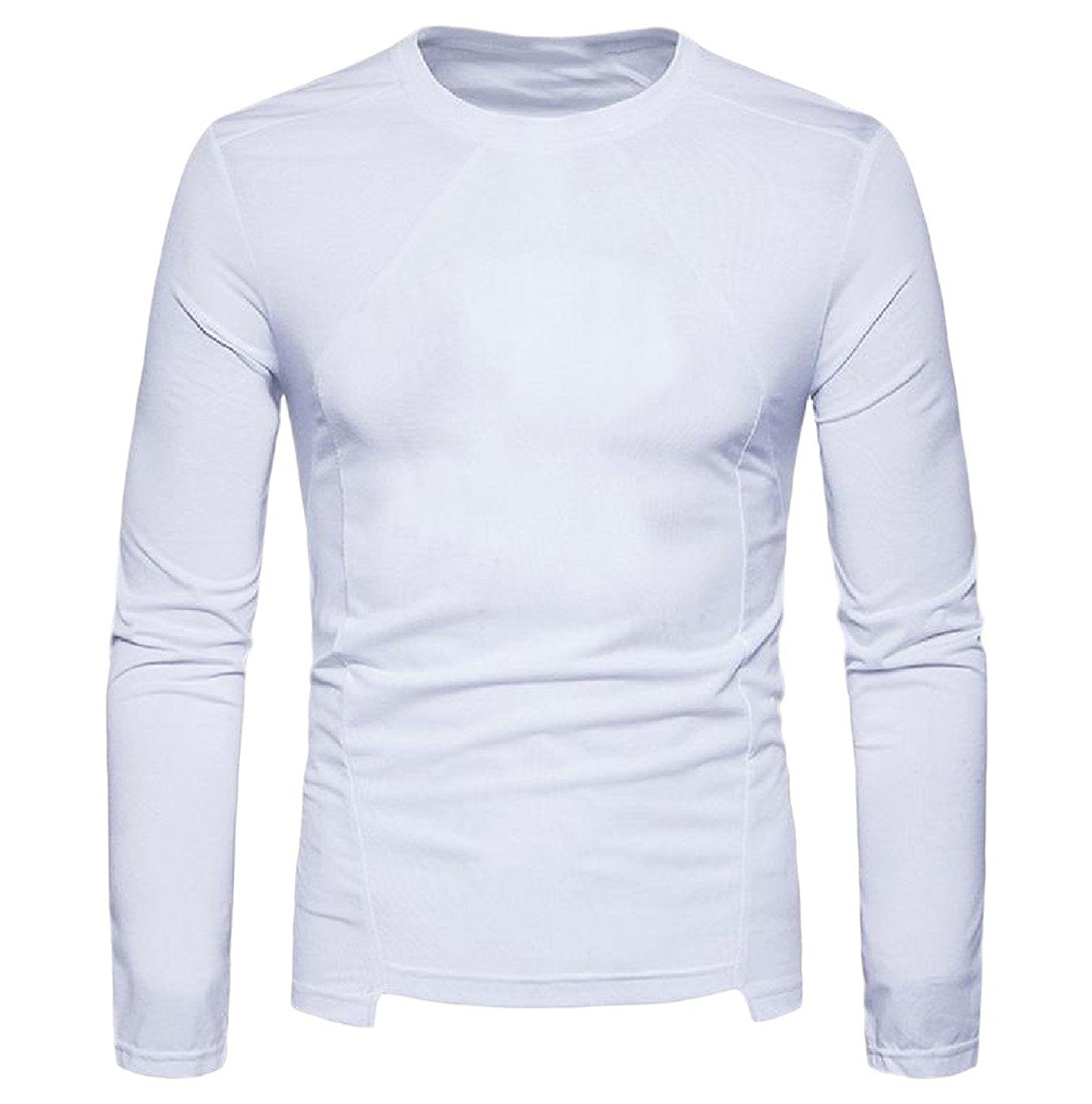 Andopa Mens Soft Crew Neck Pure Colour Long-Sleeve Knit Pullovers Sweater