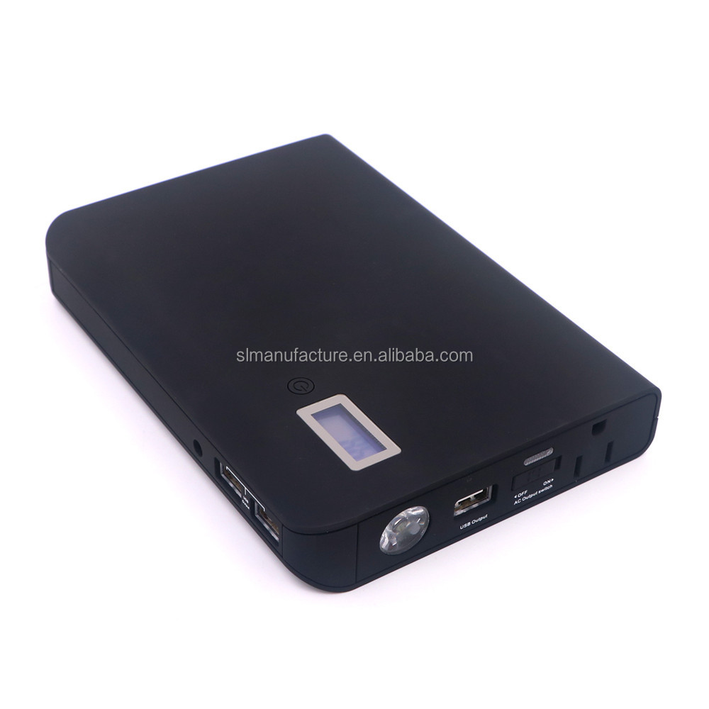 high capacity 24000mAh 3 usb ports external battery AC power bank for laptop