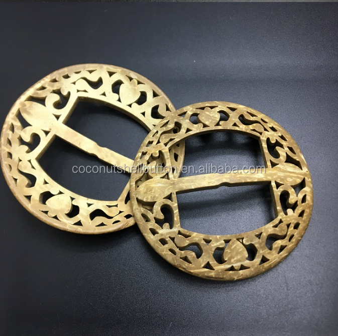 OEM Design coconut shell buckle/coconut belt buckle
