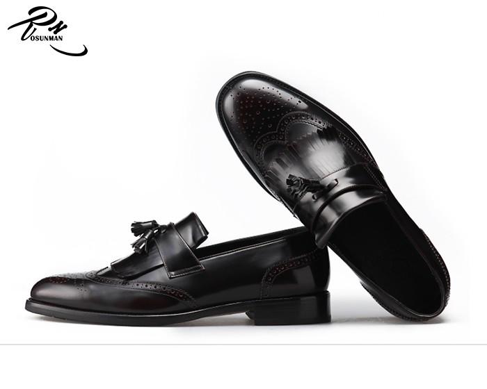 2172eb1b378c87 Italian fashion mens formal shoes tassel loafers shoe for men in black color