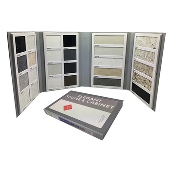 Free $1000 cash coupon custom plastic quartz stone sample book granite sample book ceramic tile sample book