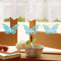 2015 hot sell party decoration laser cut butterfly paper hanging