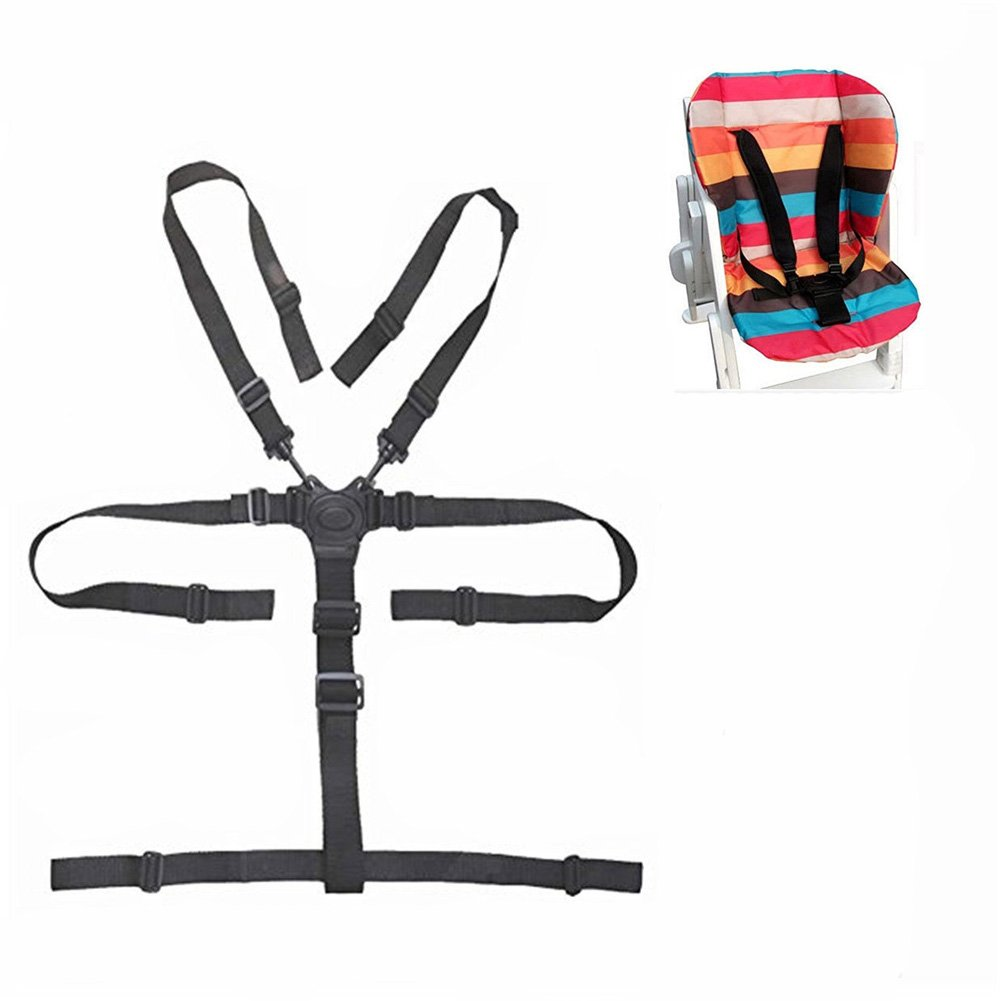 5 Point Harness Baby Chair Stroller Safety Belt Universal High Chair Seat Belt for Wooden High Chair Stroller Pushchair