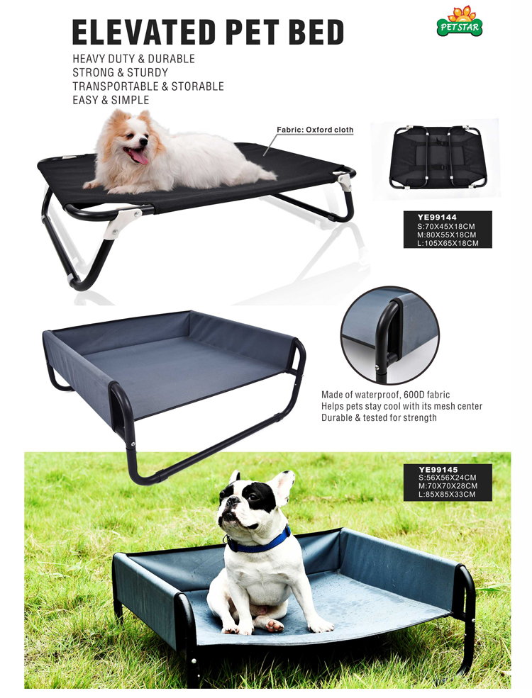 Durable Chew Proof Elevated Foldable Pet Dog Bed