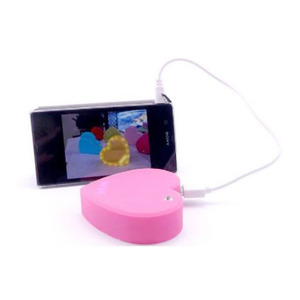 Hot Sell powerbanks for Smart Phone cute gifts Portable LED heart love mini Power Bank