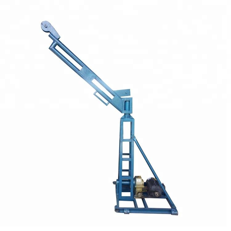 Mini Grua de Construção Fabricação de Telhado 500 kg Elevador Bens Pequeno Guincho Elétrico