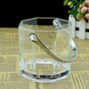 Haonai glassware bucket,glass ice bucket
