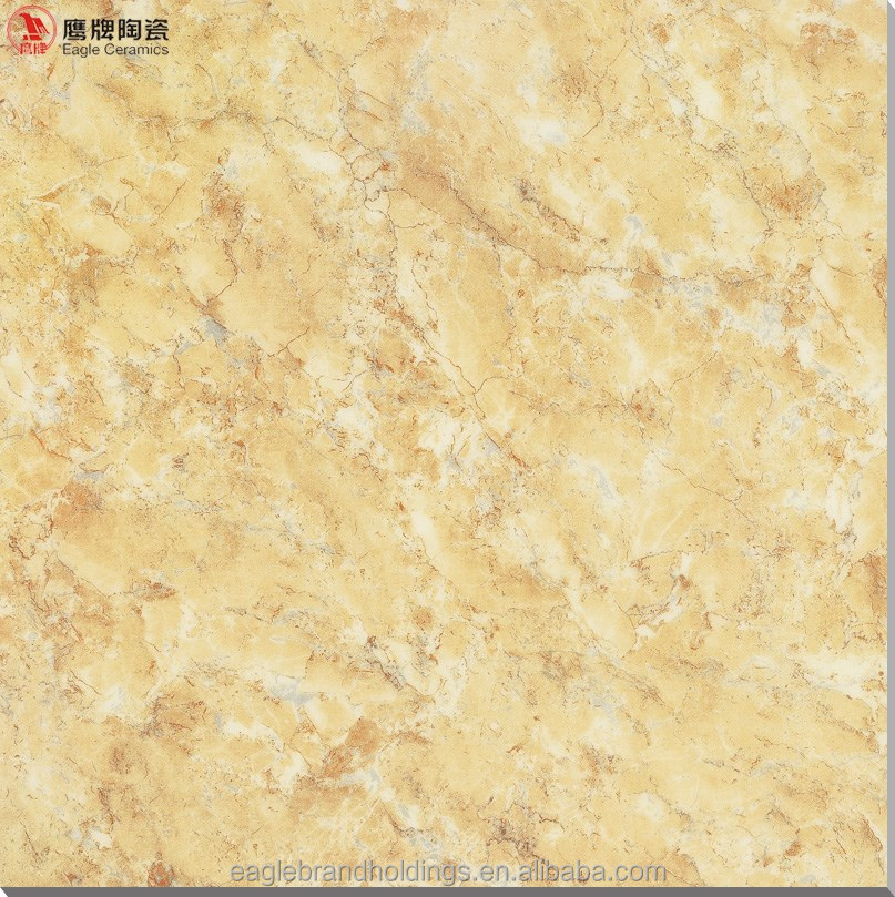 yellow micro crystal floor tile marble look glazed porcelain tiles