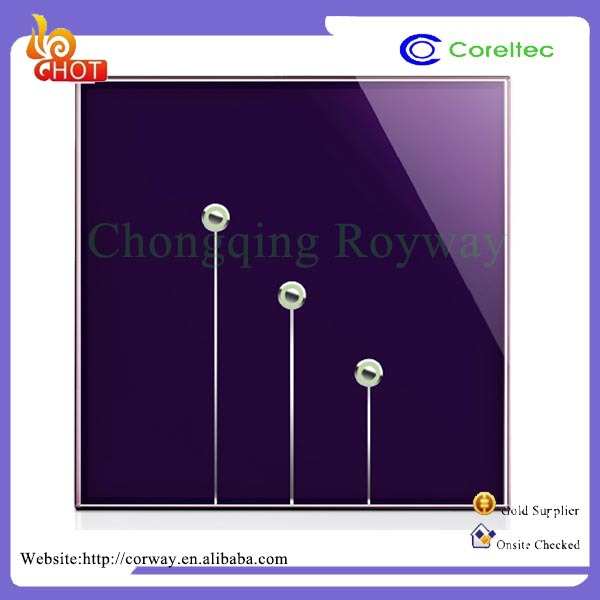 Reduces The Operating Crystal Glass Panel Led Touch Light Switch