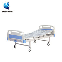 BT-AM302 Hospital Furniture Medical Single Crank Manual Adjustable Patient Treatment Bed On Wheels hospital equipments prices
