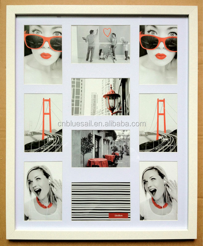 4x6 10 Openings Gallery Frame,Collage Picture Frames,Wood Collage ...