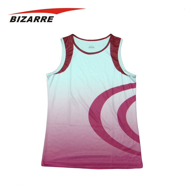 Polyester Running Shirt,quick dry running vest, sublimation running singlet
