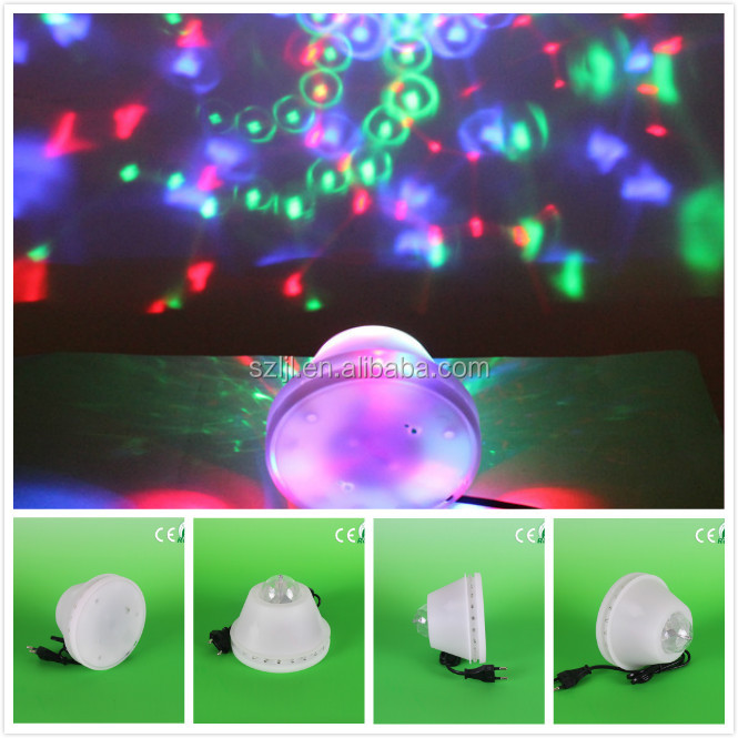 Flashing light 8W Plastic Energy Saving IP33 portable disco laser party lights stage lighting