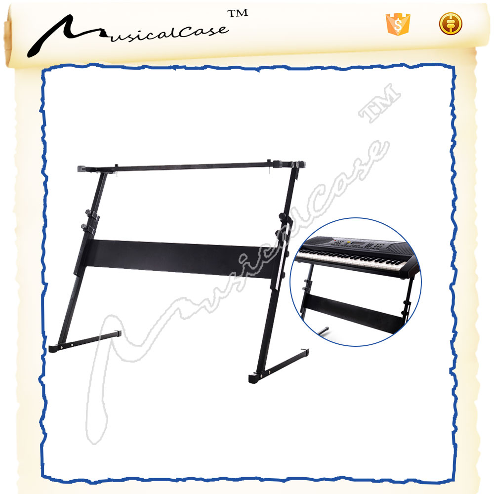 Width and Height Adjustable Folding Z digital keyboard stand for promotion