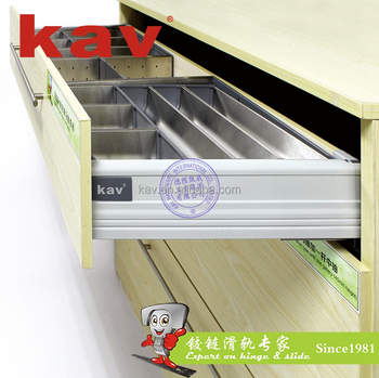 E660H metal box sliding soft close drawer box