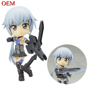 Anime plastic figurine cute frame arms girl action statues