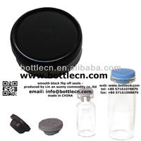 smooth black flip off seals 20mm flip top cap black FC20-11P