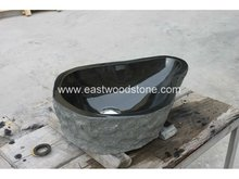 stone hand carved wash basin