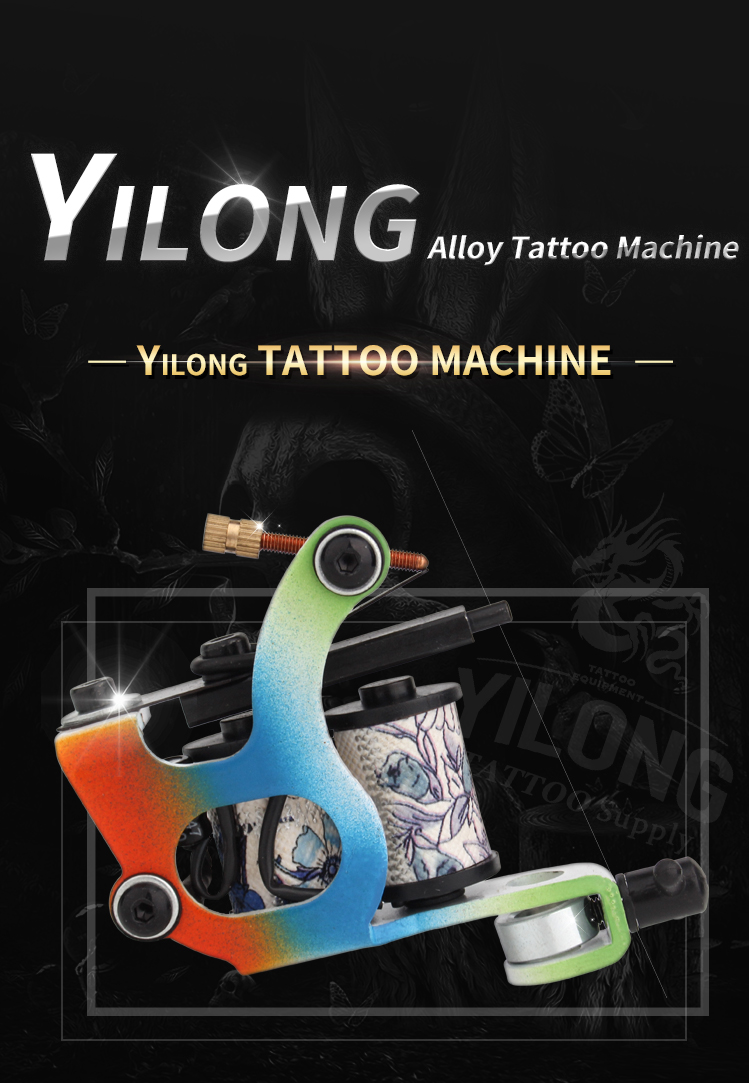 Yilong Colorful  Professional Tattoo Coil Machines Latest Design Coils Tattoo Making Machines