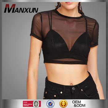5bc1312f1e789 Ladies Sexy Transparent Formal Chiffon Blouse Women Top Blank Black Plain  Women Fashion Casual Shirt Top