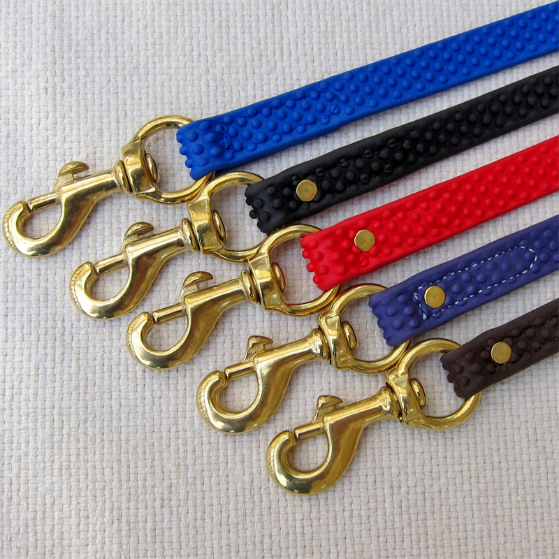 Pet Dog Nylon en boucle r/églable Slip Training Leash Lead Rope Slip Dog Leash and Collar 1.2m Rouge