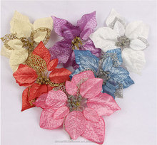 artificial poinsettia flower for Christmas wreath decorative