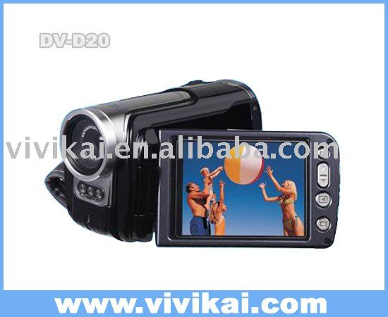 "digital video camera DVH-D20 With 3.0"" TFT LCD&4X Digital Zoom, 2X advance zoom&Audio Record&PC Camera&LED Spot Light"