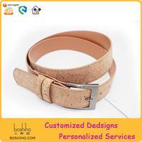 Boshiho Eco-friendly Stainless Buckle Men's Fashion Cork Belt
