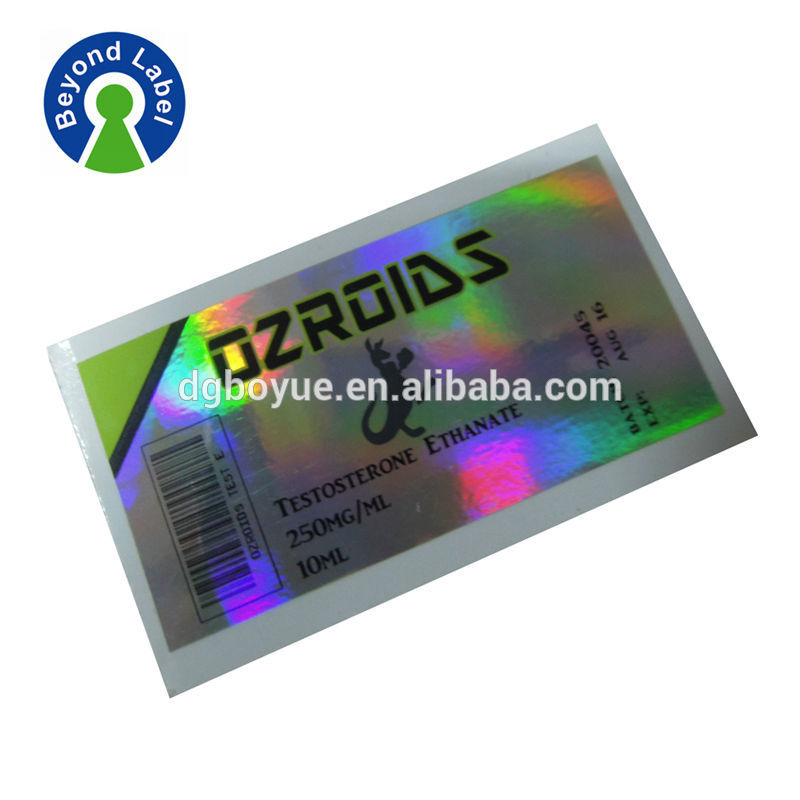 Automatic sticker label printing machine quality printing metal foil labels for pharmaceutical bottle labels