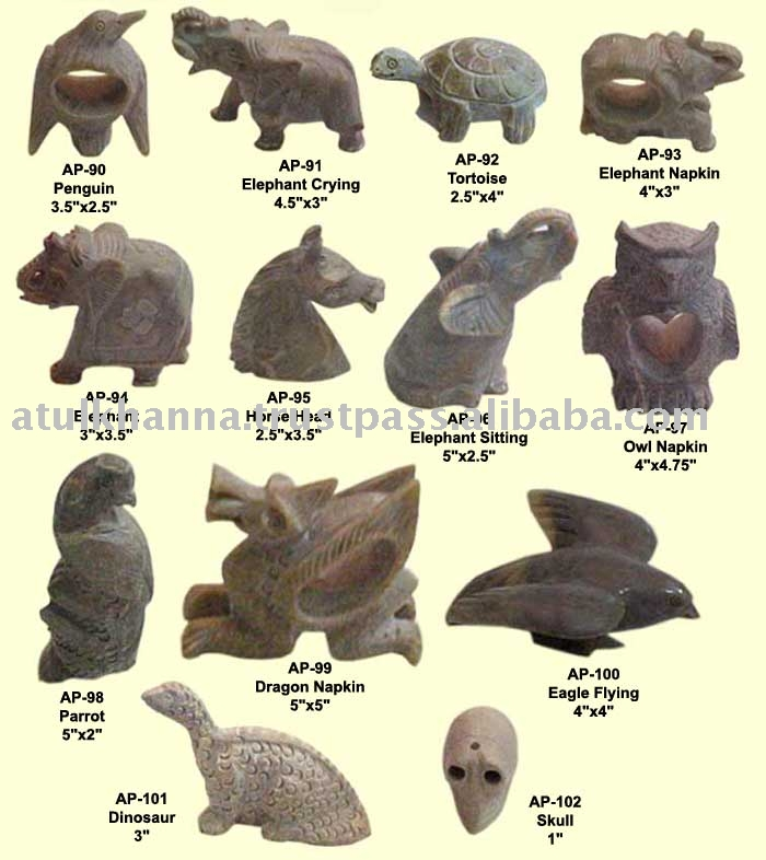 Image gallery soapstone animals