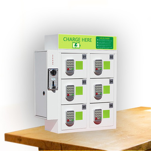 Coin operated cell phone charging station