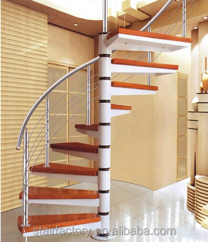 Australia Small Spiral Staircase, Used Indoor Stairs, Wood Stair Nosing,  TS 232