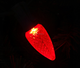 LED C9 Red faceted Xmas light replacement bulb intermediate