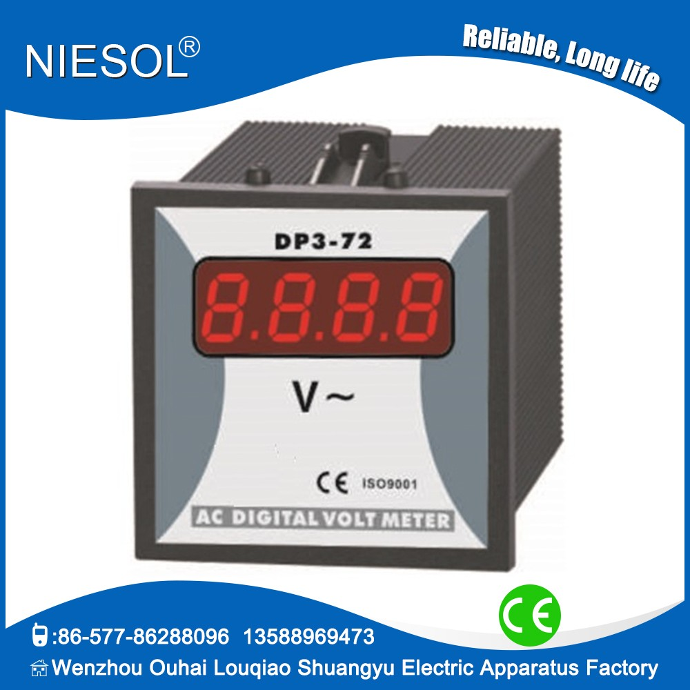 Manufacturer Led 3 Digits Dp3 72 0 600v Digital Ac Voltmeter Buy Multimeter From Reliable Circuit Suppliers On