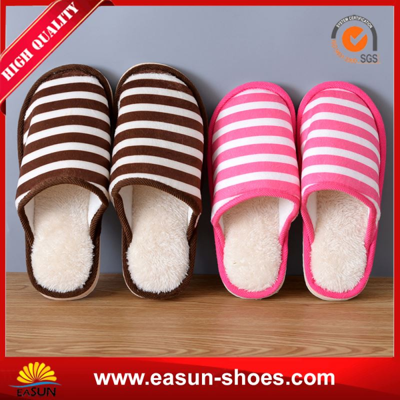 Lady Wedge Slippers Pvc Ladies Slippers Woman Cotton Slipper
