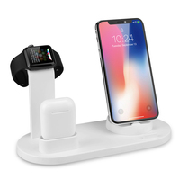 wireless charger station stand dock 3 in 1 Wireless Charger for apple watch for airpods