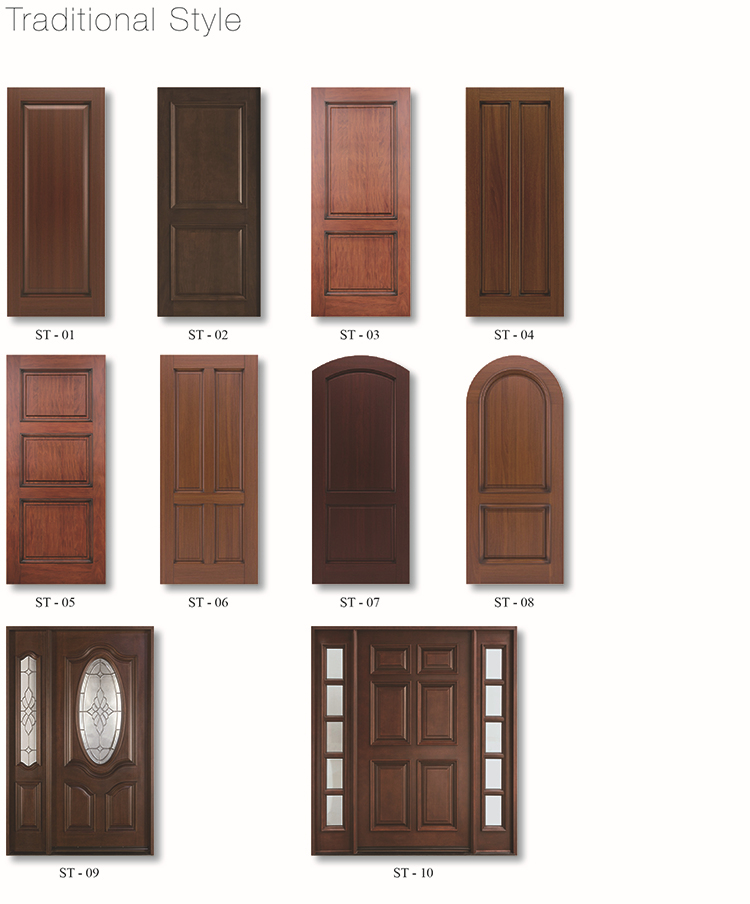 Modern new design front wooden main doors buy front for Modern wooden main door design