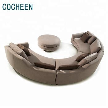 Modern Living Room Types Of Corner Design C Shaped Round Sofa Set Upholstered