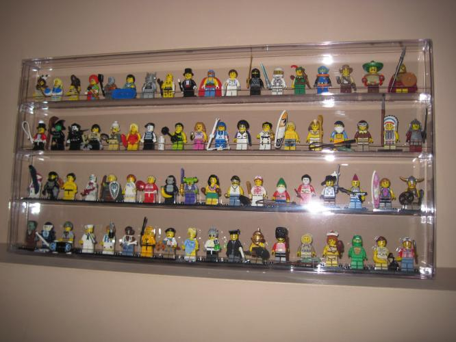 how to build a lego minifigure display case