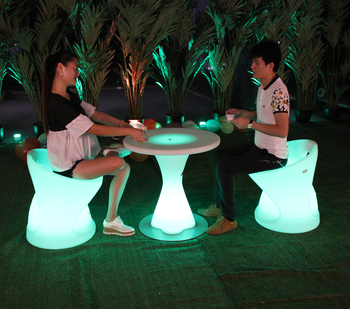 lighting party stool led color change flashing bar chair for events