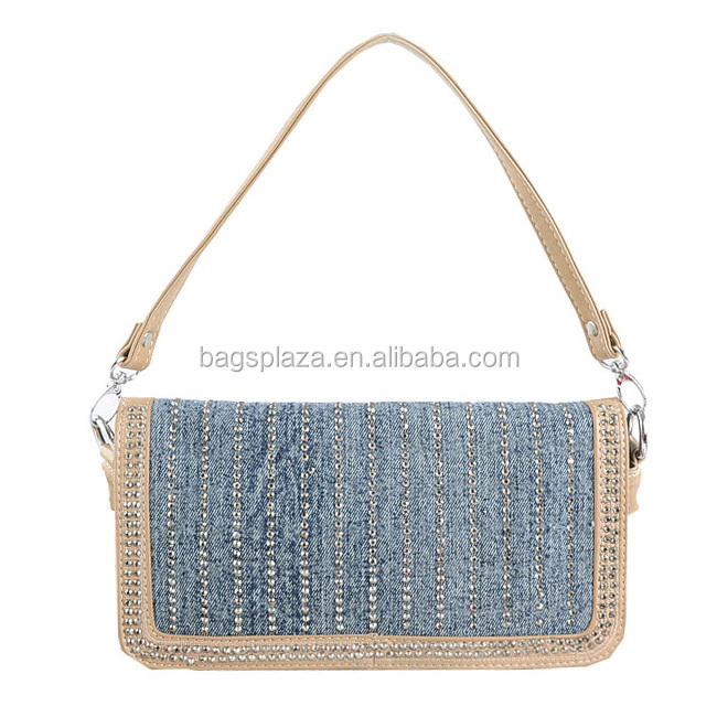 Made In China Casual Fashio Denim Clutch Bags Women Shoulder Pueses