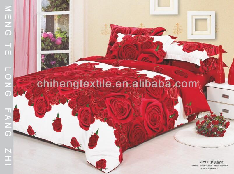 fleur rose floralesaccepter draps de lit housse de couette ensemble 40s 133 72 impression r active. Black Bedroom Furniture Sets. Home Design Ideas