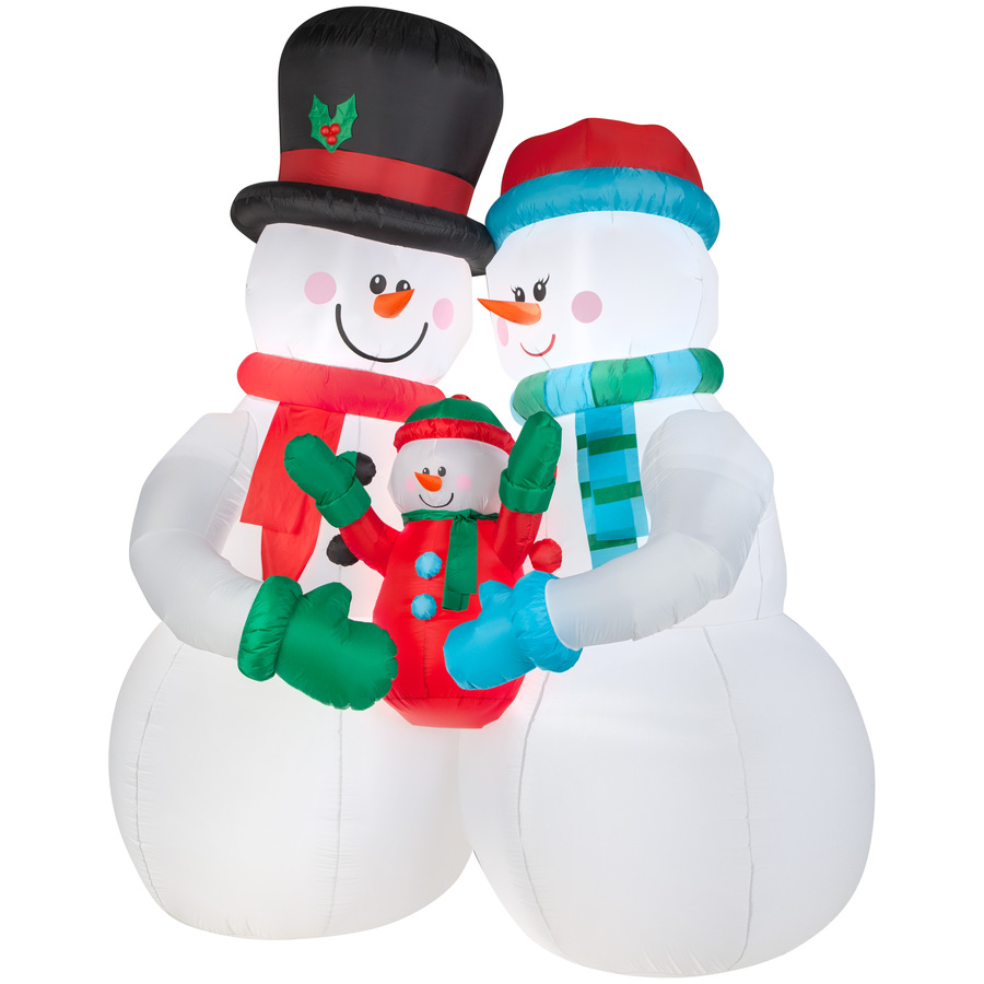 Giant Christmas Inflatable Smiled Snowman For Celebration
