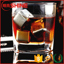 wholesale food grade ice cubes 304 stainless steel whiskey stones for Single Highland Malt Whisky