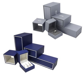Branded Jewelry Box With Sleeve Jewelry Box Set With Velvet Insert