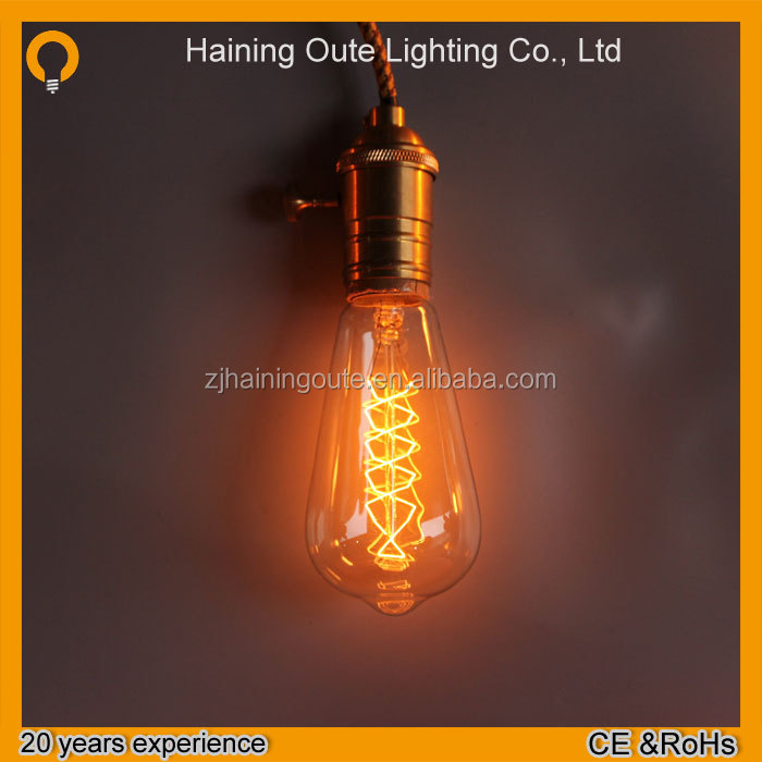Manufacturer Vintage Antique Edison Bulb Decorative Filament Light Bulb 110-130v/220-240v Industrial Bare Bulb