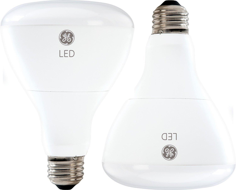 GE Lighting 21907 Energy-Smart LED 10-watt (65-watt replacement), 700-Lumen R30 Flood Bulb with Medium Base, Soft White, 2-Pack