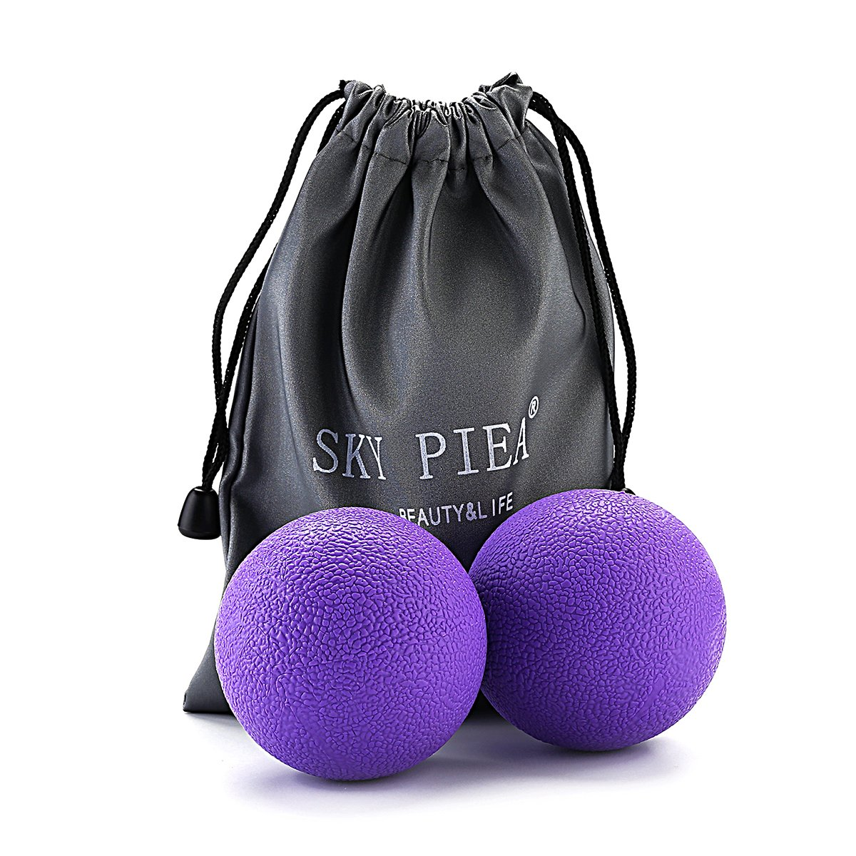 Massage Therapy Balls, Sky Piea Deep Pressure, Trigger Point, Myofascial Release Physical Therapy Used in Yoga, Pilates Instant Tension Pain Relief Relax Sore Muscles Rubber Firm Balls
