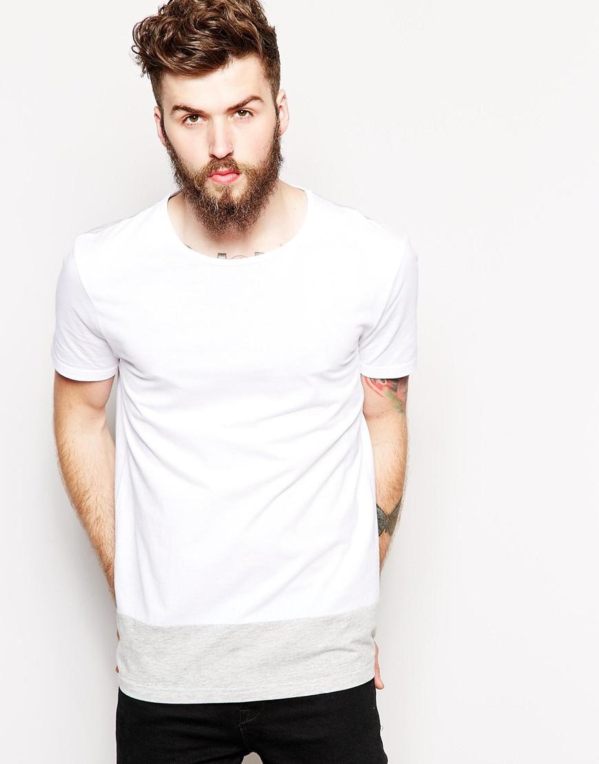Short sleeves round neck two colors white plain t shirt for Model white t shirt