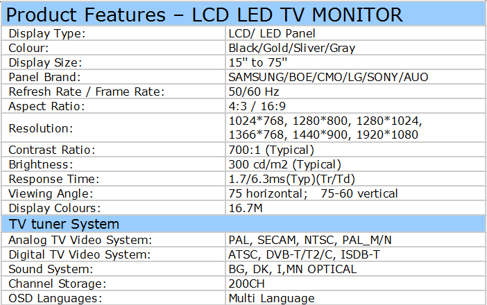 24 Inch Pc Gaming Monitor 144Hz 1080P Ips 12V Tft Led Monitor Met Vga-poort